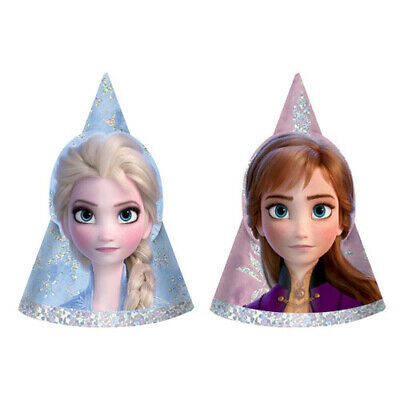 FROZEN 2 MINI CONE HATS (8) ~ Birthday Party Supplies Favors Elsa Anna Guests
