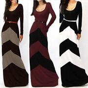 Black and White Long Evening Dress
