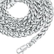 Mens Solid White Gold Necklace