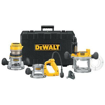 DEWALT 2-1/4 HP EVS Three Base Router Kit DW618B3 New