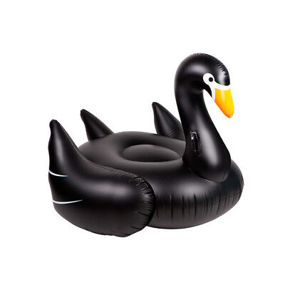 Really Big Inflatable Black Swan Blow Up Pool Float Giant Swan By Sunnylife - Big Blow Up Pools