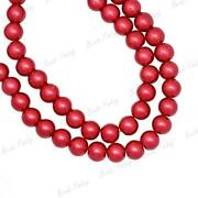 Red Glass Beads 10mm
