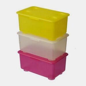 plastic storage boxes ebay. Black Bedroom Furniture Sets. Home Design Ideas