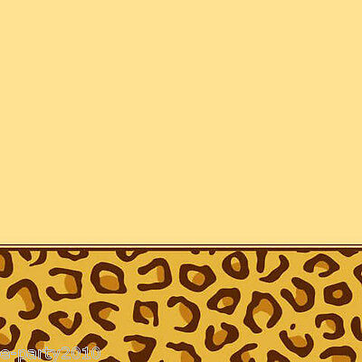 LEOPARD ANIMAL PRINT PLASTIC TABLE COVER ~ Birthday Party Supplies Decorations - Leopard Birthday Supplies