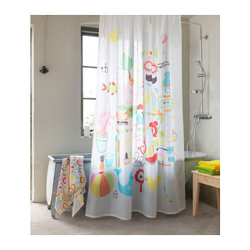 Ikea Badback Shower Curtain Multicolor