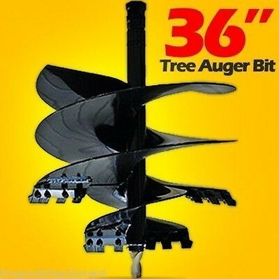 36 X 3 Skid Steer Tree Auger Bit 2.5 Round Drive Great For Mini Loaders