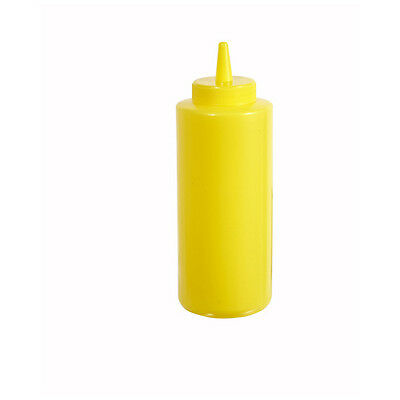 Winco Psb-08y 8-ounce Yellow Plastic Squeeze Bottle