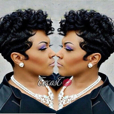 Hot Sales Synthetic Full Wigs Short Afro Curly Wave Hair Black Wigs for - Afro Wig For Sale