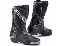 TCX SR-1 SR 1 Race Sport Motorcycle Motorbike boots black brand new boxed bnwt size 8