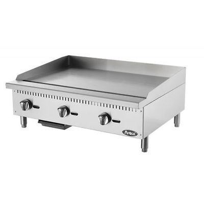 Atosa Atmg-36 Heavy Duty Stainless Steel 36-inch Manual Griddle Natural Gas
