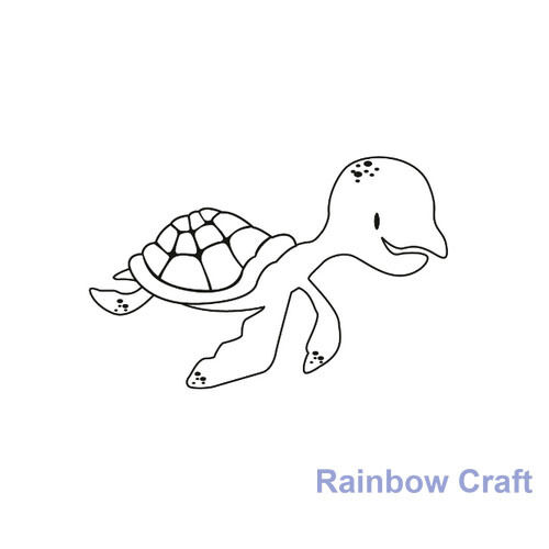 Kaisercraft mini stamps - 26 wording / patterns Scrapbooking card making - Turtle