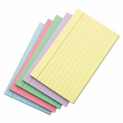 Universal Index Cards 5 X 8 Assorted Colors 100 Index Cards Unv47256