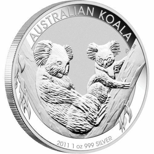 LOT OF 5 SILVER 2011 Australian 1 oz Silver Koala Coins
