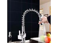 Maddie Chrome Monobloc Kitchen Tap Swivel Pull Out Spray Mixer