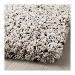 "IKEA VINDUM Rug, high pile, white 5' 7"" x 7' 7"""