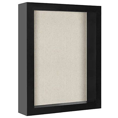 8 x 10 Inch Shadow Box Frame With Soft Linen Back Perfect To Display Memorabilia