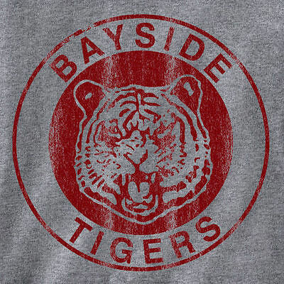 BAYSIDE TIGERS TEE vintage halloween costume 80'S retro tv T SHIRT