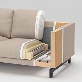 NOCKEBY 3-seat sofa frame, with chaise longue, WAS £600 IKEA Cardiff, #BargainCorner