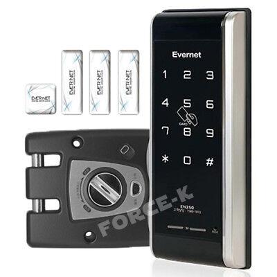 Hook Mechanism EVERNET EN250H Smart Keyless Lock Digital Doorlock Passcode+4RFID