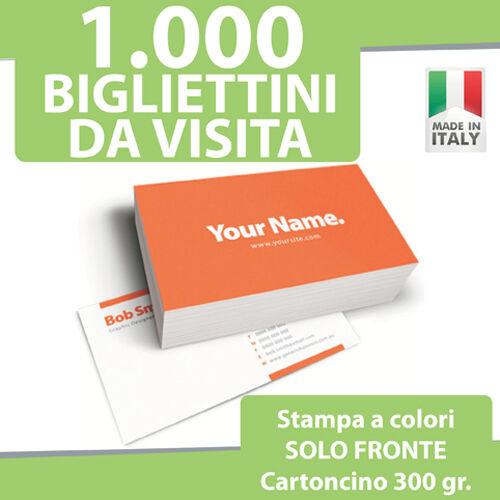 1000 BIGLIETTI DA VISITA STAMPA FRONTE a COLORI 300gr Bigliettini Stampati