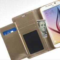 samsung galaxy s6 + Card Holder Cash Wallet Leather  case cover