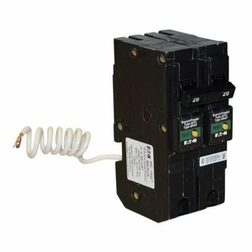 Eaton BRL220CAF Plug-In Mount Type BR Combination Arc Fault Circuit Breaker