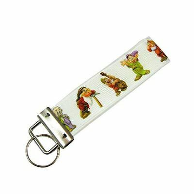 Snow White and the Seven Dwarfs Key Fob / Fabric Key Chain - Adult Snow White And The Seven Dwarfs