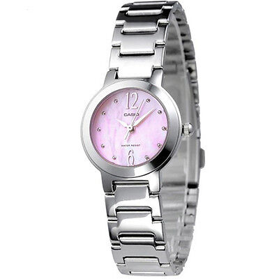 Casio Women's Quartz Analog Stainless Steel Pink Dial Watch LTP1191A-4A1