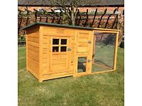 Rabbit hutch with run/ small chicken coup