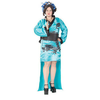 DRAGON LADY Plus Size (16-22) Women's Costume Halloween Flower Child-RB](Dragon Lady Halloween Costume)