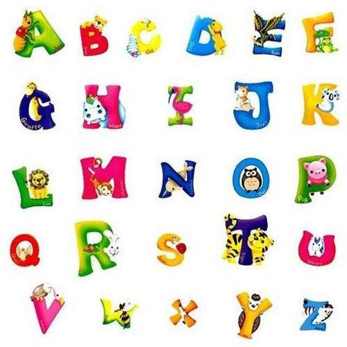 DIY A-Z Alphabet Animals Wall Sticker Vinyl Decals Kids Bedr
