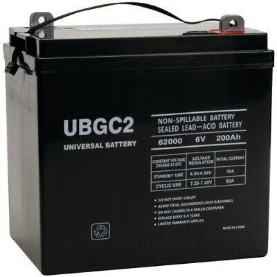 New Ubgc2 Sealed Agm Deep Cycle 6v 200ah Battery Golf Cart Rv Boat Camper Solar