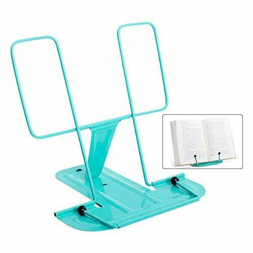 Book Stands Adjustable Reading Book Stand with Folding Tray,Portable Metal
