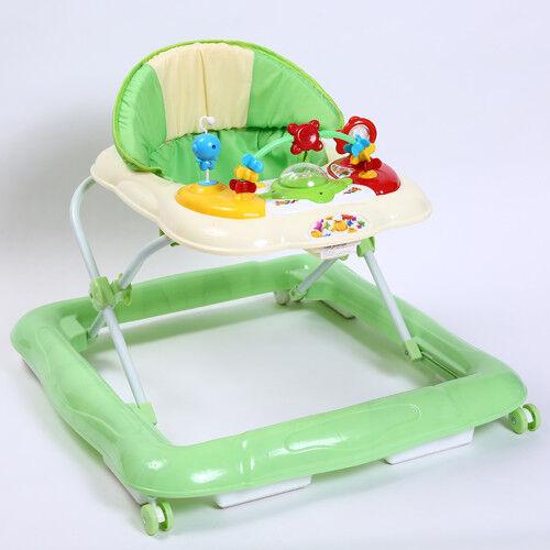 Kidmeister Gehfrei Baby Walker Lauflernhilfe mit  Musik Spielstation 3 Farben Grün