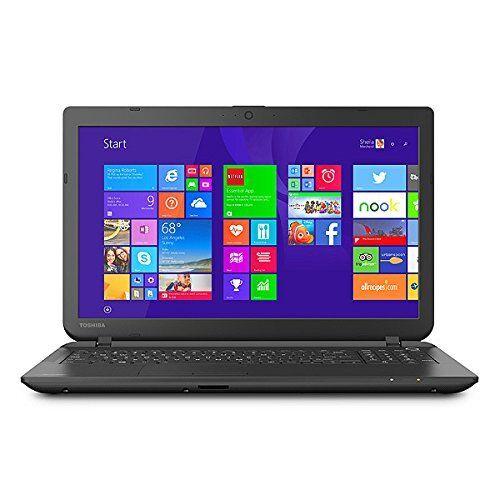 15.6 Inch Toshiba Jet Black Satellite C55D-B5206 Laptop PC AMD A8