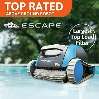 Used, Good - Dolphin Escape Above Ground Pool Cleaner with Top-Load Filter