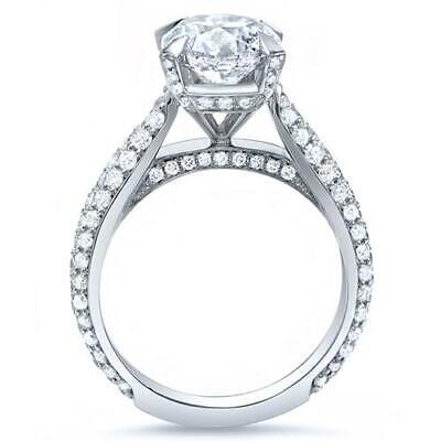 4.50 Ct Round Brilliant Cut Lush Diamond Engagement Ring J,VS2 GIA Cert 18K WG 1