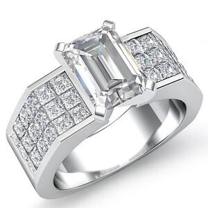 beautiful emerald cut engagement ring h color