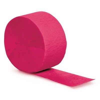 Pink Streamers (Hot Pink Crepe Streamer - 1/pk - 81 ft/pk #)
