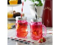 Kilner Drinking Jars - including lid and straw