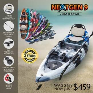 NEXTGEN KAYAKS IN SYDNEY - ALUMINIUM SEAT & PADDLE PACKAGE Quakers Hill Blacktown Area Preview