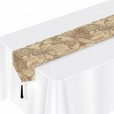 Around The World Laminated Paper Table Runner International Decorations