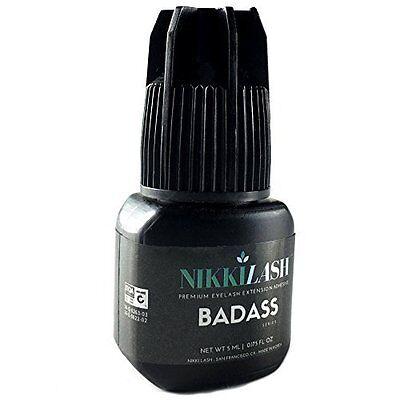 Badass Premium Eyelash Extension Adhesive - Powerful & Stronger Bonding 5Ml