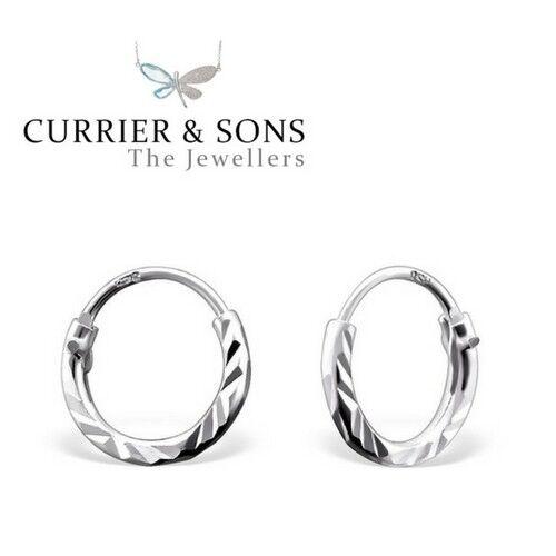 925 sterling silver small 8mm hoop sleeper earrings pair ebay