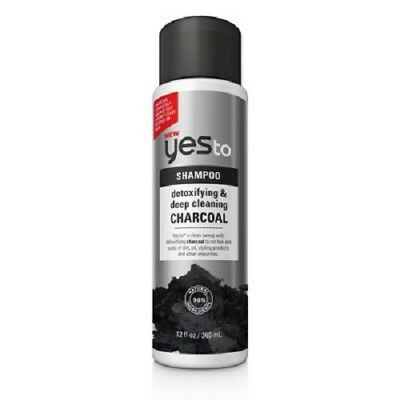 Yes To Detoxifying and Deep Cleaning Charcoal Shampoo, 12 Oz