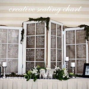 Wedding seating chart, Vintage Window Frames. 647-856-8128