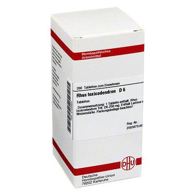 RHUS TOXICODENDRON D 6 Tabletten 200St PZN 02104933