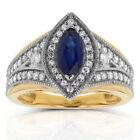 Sapphire Marquise Diamond Engagement Rings