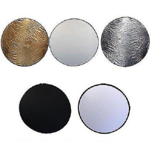 """42"""" 110cm 5 in 1 Photo Round Studio Collapsible Reflector Light Diffuser Kit Set"""