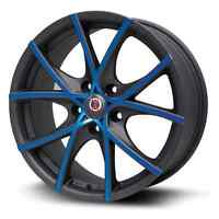 "17"" 5x114.3 Black and Red or Black and Blue"